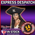FANCY DRESS ACCESSORY # PIRATE EYEPATCH WITH COLOURED SKULL AND CROSSBONES